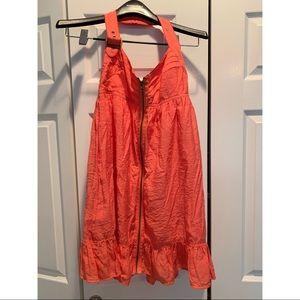 LaRok Zip Halter Dress